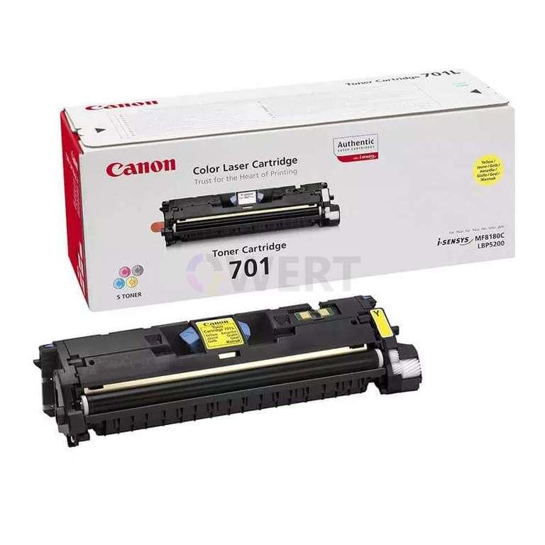 Заправка картриджа Canon Cartridge 701Y