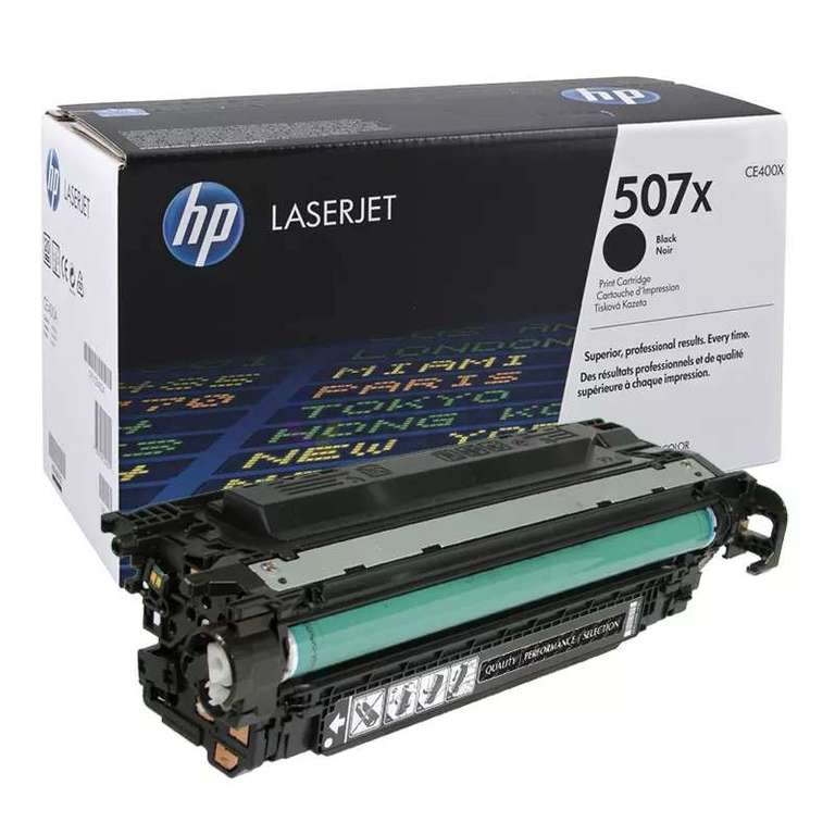 Заправка картриджа HP CE400X (507X)
